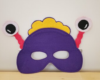 Purple Monster Alien Mask//Free Shipping//Ready to Ship