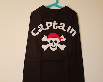 Pirate Cape with Free eye patch// FREE SHIPPING// Ready to Ship