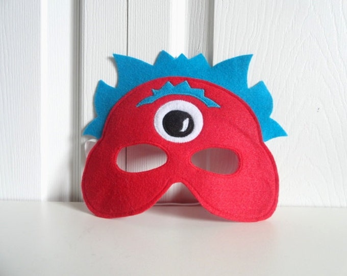 Featured listing image: Red Monster Alien Mask//Free Shipping//Ready to Ship