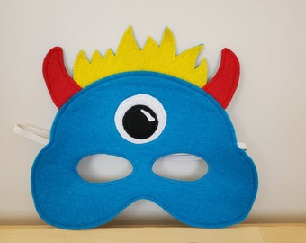 Aqua Monster Alien Mask//Free Shipping//Ready to Ship