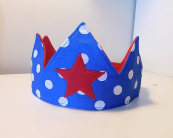 Kids Fabric Crown- Holiday gift//Free Shipping
