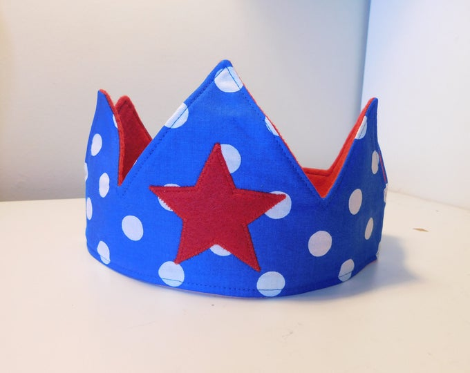 Featured listing image: Kids Fabric Crown- Holiday gift//Free Shipping