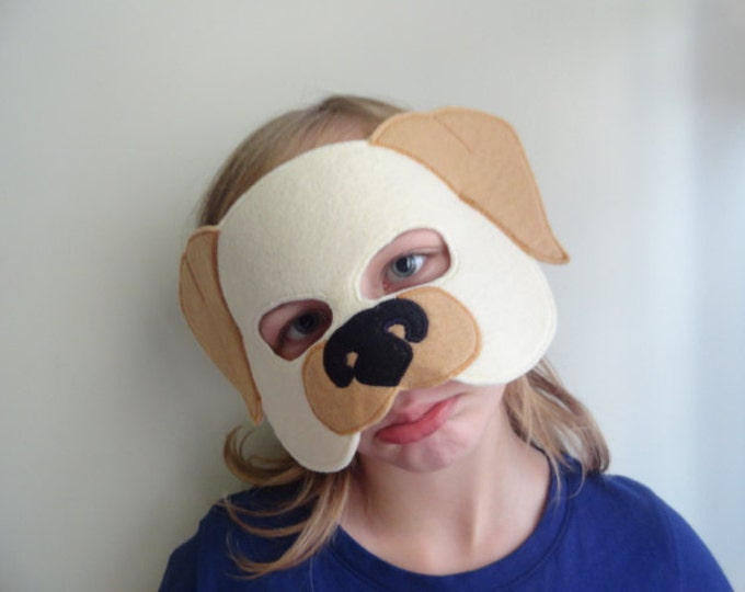 Featured listing image: Dog Felt Mask//Free Shipping//Ready to Ship