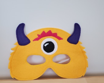 Golden Yellow Monster Alien Mask//Free Shipping//Ready to Ship