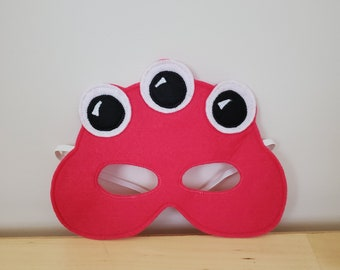 Pink Monster Alien Mask//Free Shipping//Ready to Ship
