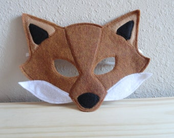 Fox Felt Mask- Ready To Ship