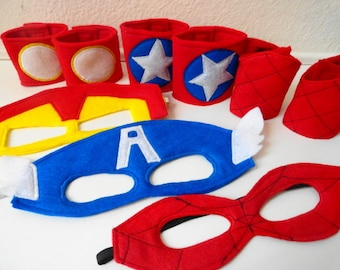 Super Hero Mask Party Pack