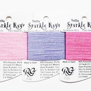 Cross-Stitch Embroidery Needlepoint Yarns Sparkle Rays 4.80 Each Needlework Threads Rainbow Gallery Sparkle Rays Thread Ribbon Threads