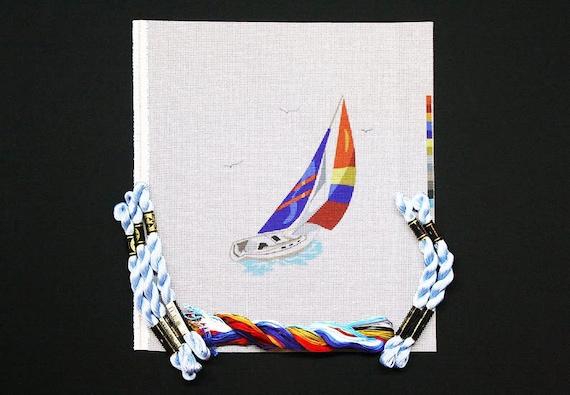 Needlepoint Kit Sailboat