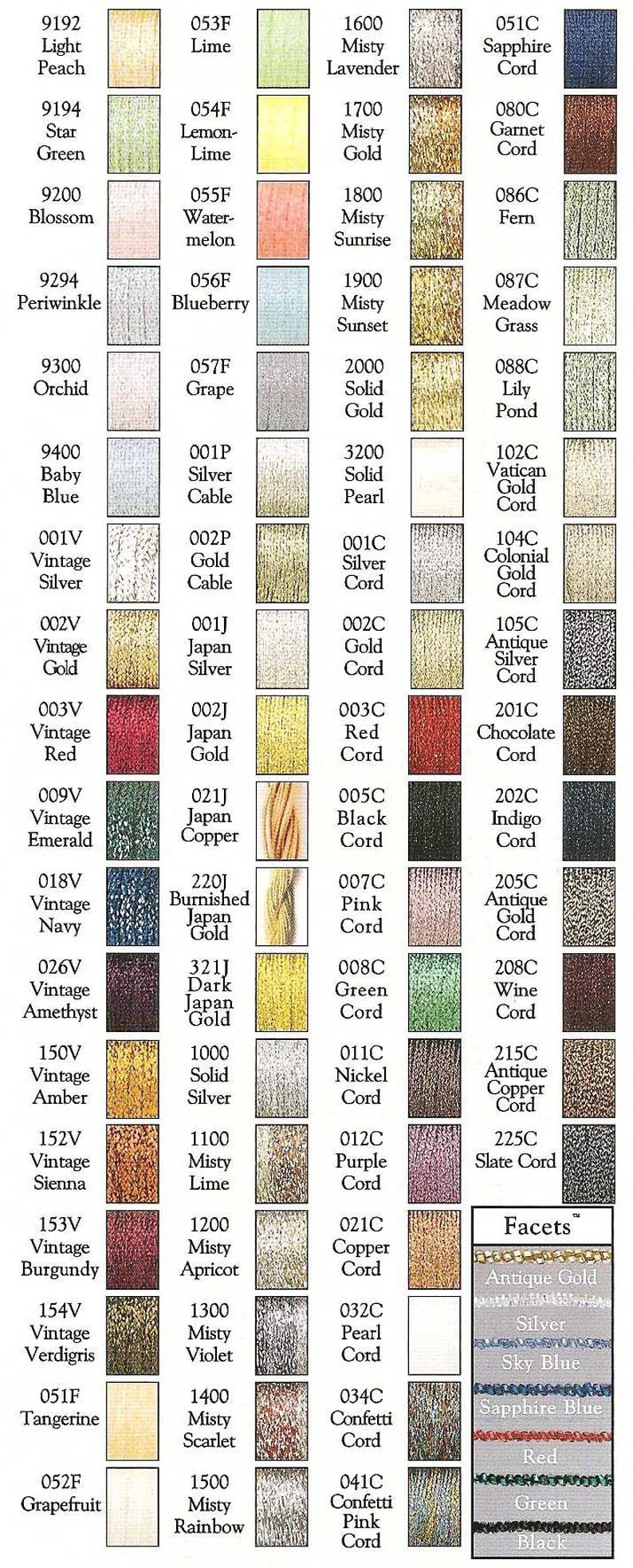 Kreinik Metallics Metallic Yarns 16 Metallic Braid Metallic Threads Card Making Supplies Kreinik 16 Braid Needlework Jewelry Supplies