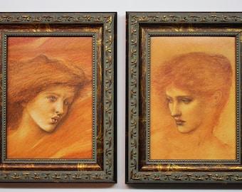 Edward Burne Jones, Pre-Raphaelite, Wall Art Gold Frames, Pre-Raphaelite Women, Ornate Gold Framed Art, Art Reproductions, Women In Art