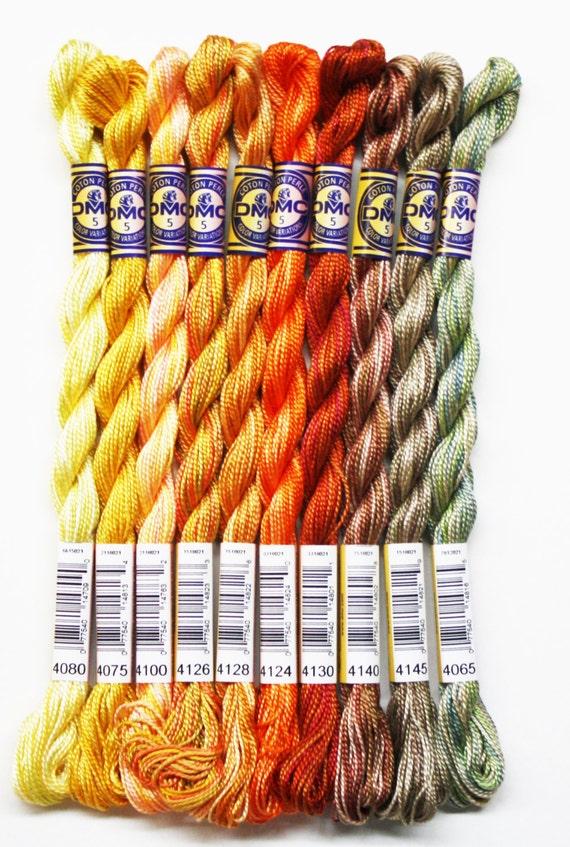 DMC Threads Perle Cotton Size 5 Embroidery DMC Perle Cotton 1.90 Each Needlepoint Cross-Stitch Cotton Threads Temari Balls Thread