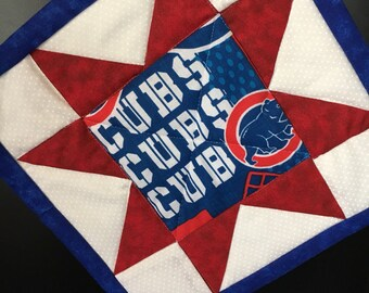 Chicago Cubs pot holder