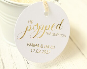 image relating to He Popped the Question Printable titled Popped the wonder Etsy