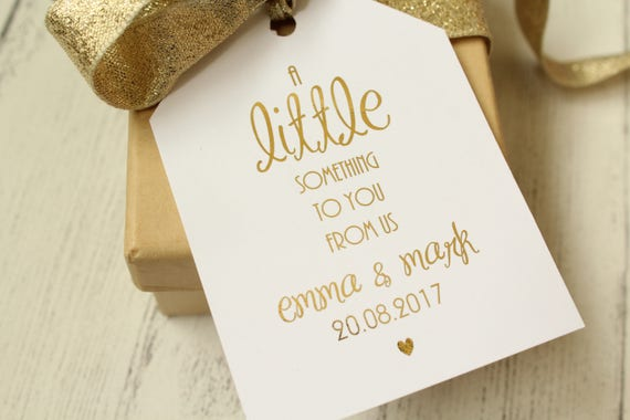 Wedding Favour Luggage Tags A Little Something Etsy