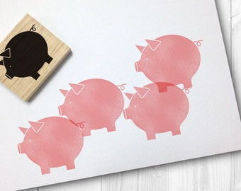 piggy rubber stamp - FREE SHIPPING WORLDWIDE*