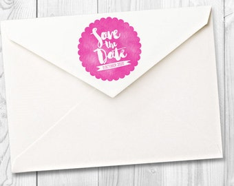 customized date save the date rubber stamp -  FREE SHIPPING WORLDWIDE*