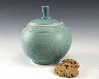 Cookie Jar - Small - Robin's  Egg Blue. A wonderful collectors piece for the kitchen