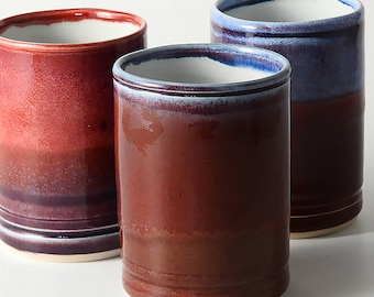 The Beauty of red - Porcelain Tumblers for hot or cold drinks