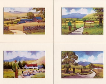 Watercolour Prints, Special Offer, Set of 4, The Brecon Beacons, in 8 x 6 inch mounts, Gift Idea, Art and Collectibles, Home and Living