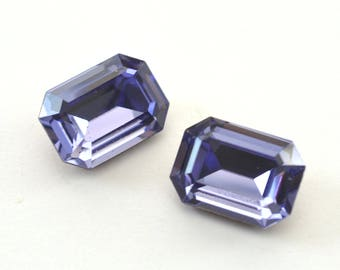 Tanzanite Swarovski 4610 14x10mm Octagon Crystal Rhinestone