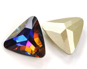 Swarovski 23mm 4727 Volcano Fancy Triangle Crystal 1 Piece