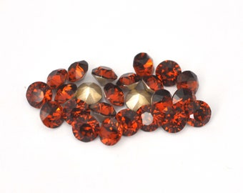 Madeira Topaz 39ss / 8mm 1088 Chatons Barton Crystals - Multiple Pack Sizes Available