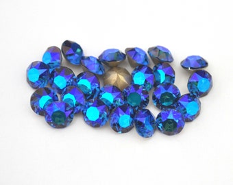 Sapphire Shimmer 39ss / 8mm 1088 Chatons Barton Crystals - Multiple Pack Sizes Available