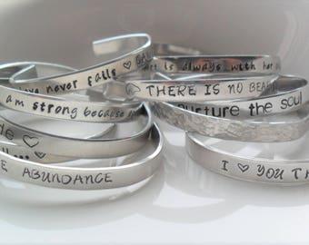 Stamped bracelet | Etsy