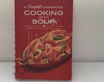 Campbell Cookbook Cooking with Soup 608 Recipes Vintage