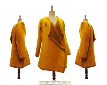 Wollen blanket coat