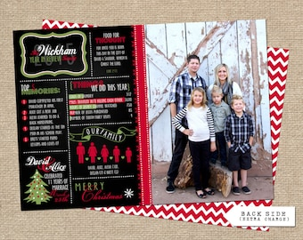 Year in Review Infographic Christmas Card