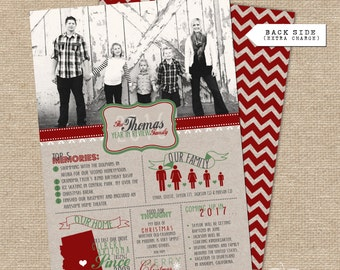 Year in Review Infographic Christmas Card (KRAFT paper)