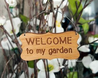 Fairy Garden Sign   Welcome To My Garden Miniature Wood Sign For Mini  Gardens Terrariums U0026 Outdoor Fairy Gardens
