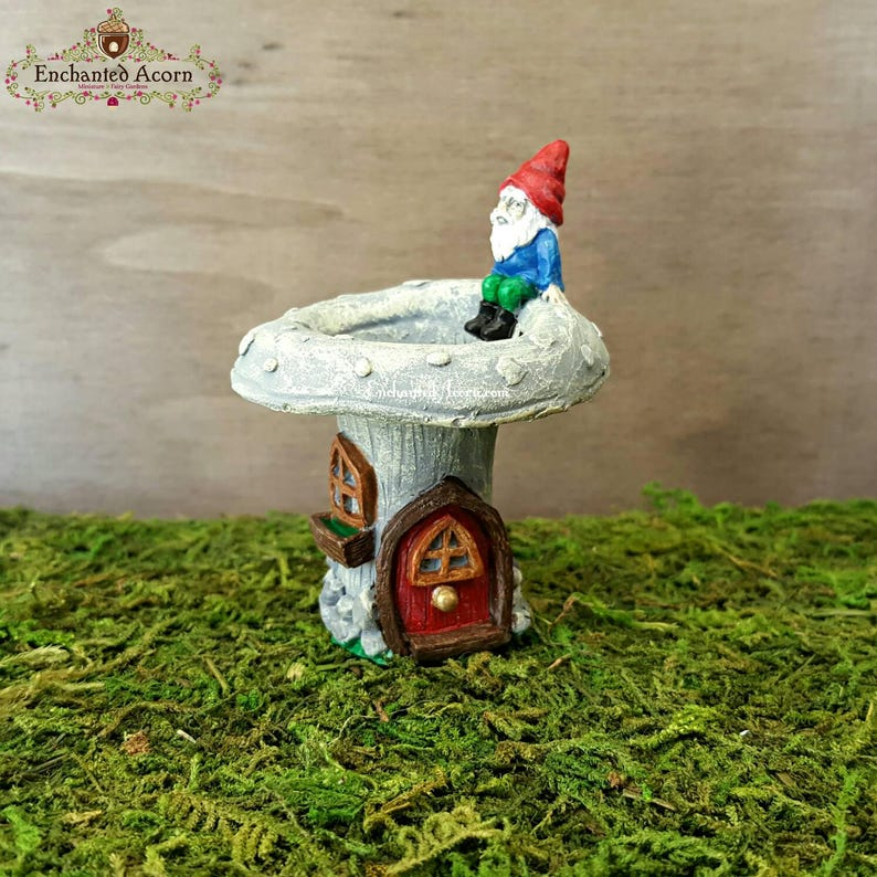 Factory Direct Craft Miniature Mushroom Umbrella Gnome