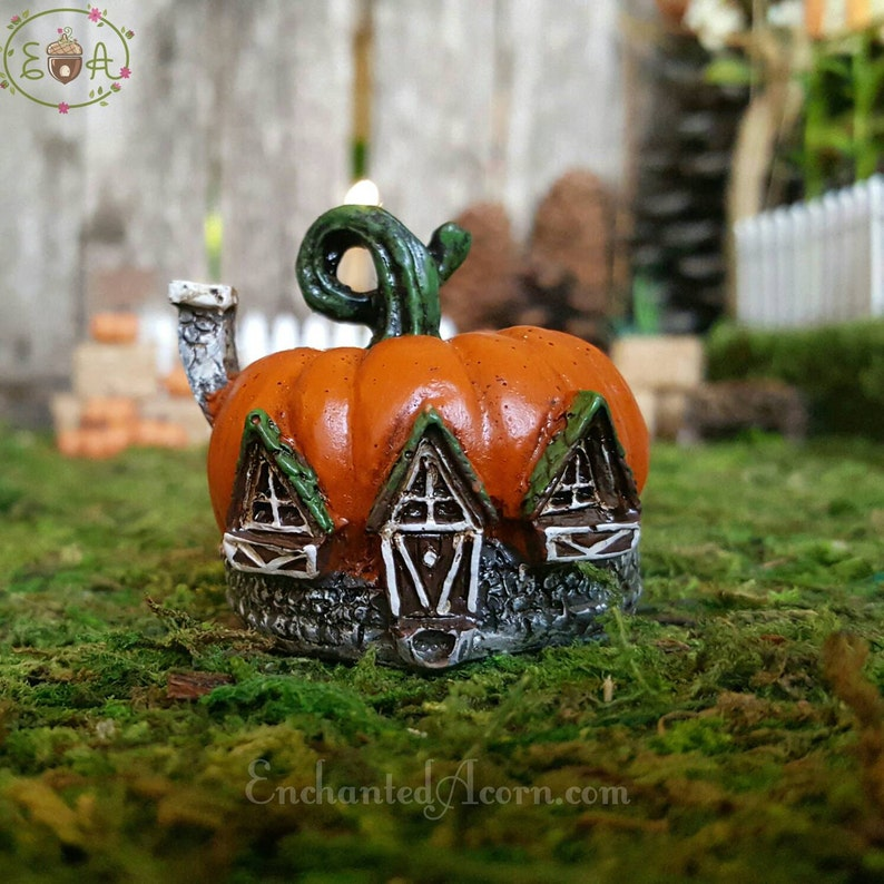 Miniature Dollhouse Fairy Garden Micro Pumpkin House Buy 3 Save $5