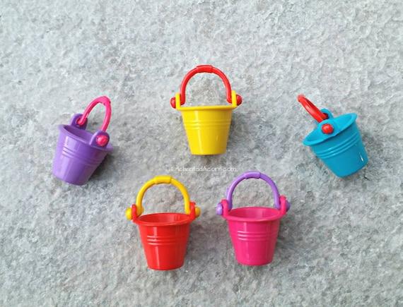 Miniature Dollhouse FAIRY GARDEN Accessories ~ Mini Wooden Bucket Pail w Carrots