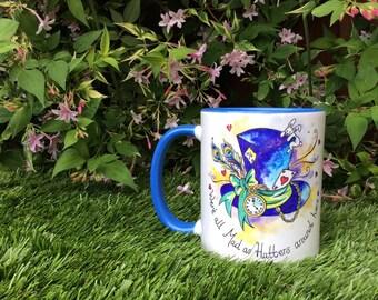 Mad hatter Alice in wonderland mug