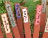 Herb Marker - 6 Herb Markers - Handmade - Herbs - Unique - Herb Stakes - Plant Markers - Garden Art