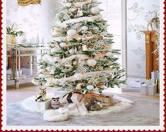 popular items for fur tree skirt - Christmas Tree Skirts Etsy