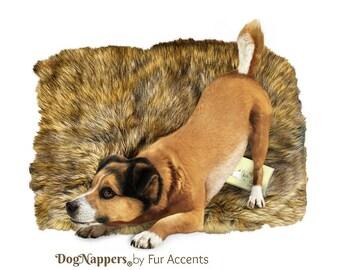 Zottel weichen dunkel braun Wolf Kunstpelz DogNapper Hund