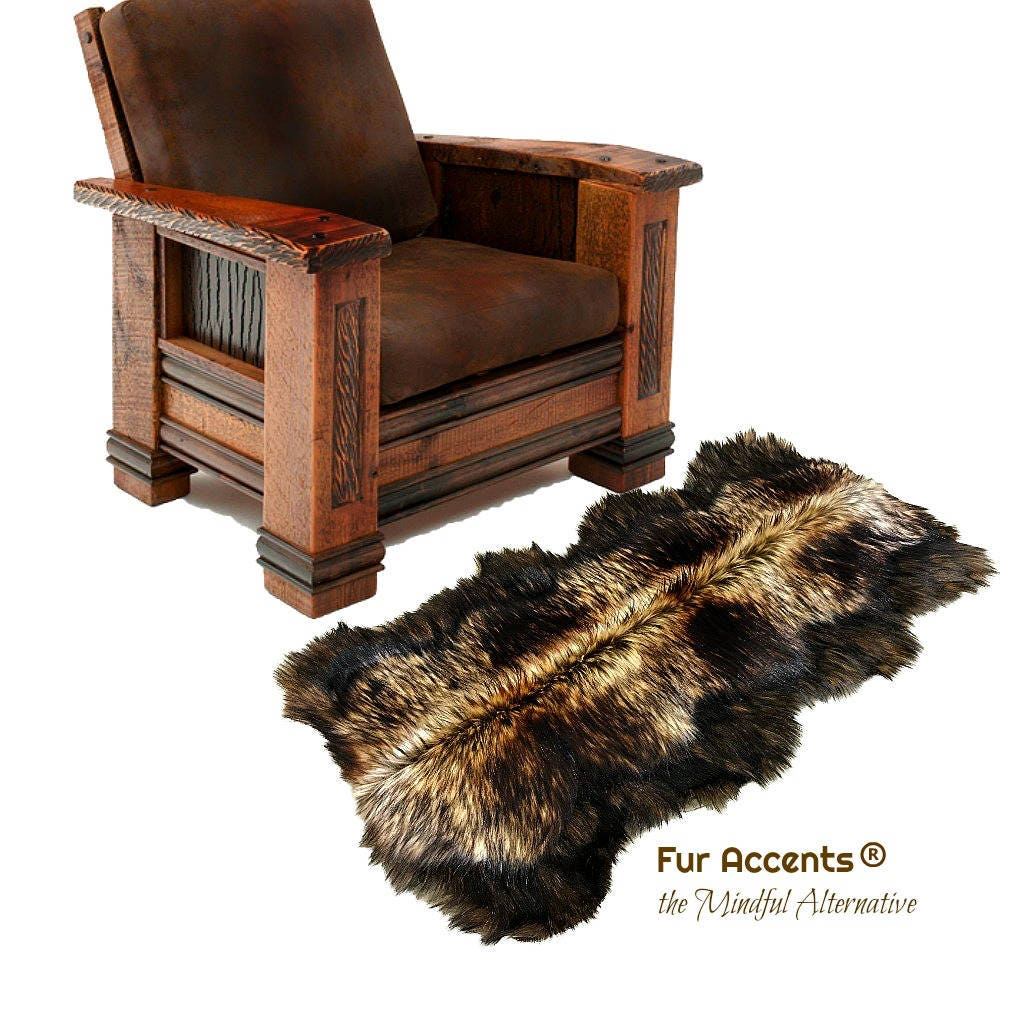 Plush Faux Fur Area Rug Luxury Fur Thick Shaggy Golden