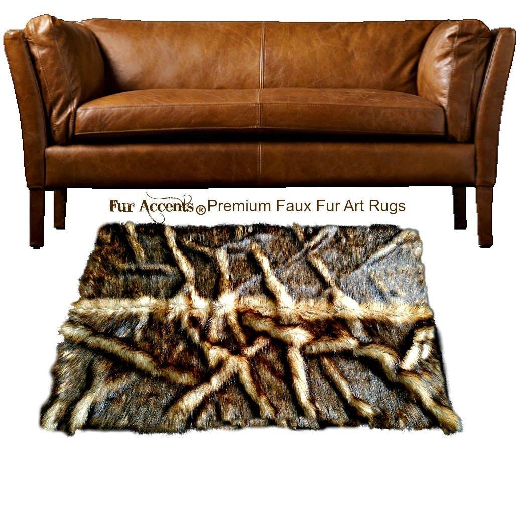 les tapis en peluche fausse fourrure racines pelt design etsy. Black Bedroom Furniture Sets. Home Design Ideas