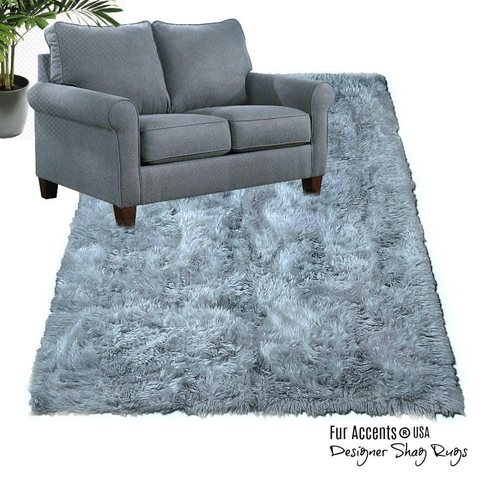 Plush Faux Fur Area Rug Luxury Fur Thick Shaggy Carpet