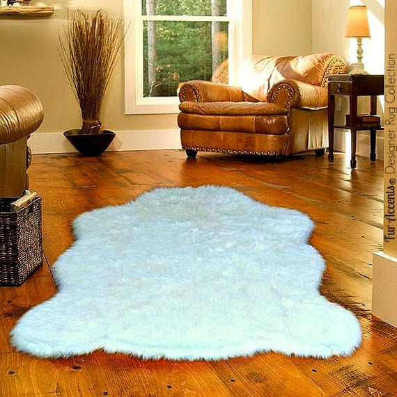 Plush Faux Fur Area Rug Luxury Fur Thick Shaggy Bear Skin