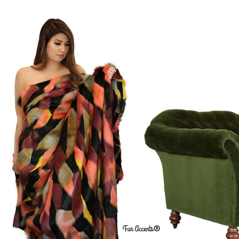 Rich Jewel Tone Color Tones Fur Accents Bedspread Luxury Fur Minky Cuddle Reverse USA Extraordinary Faux Fur Throw Blanket