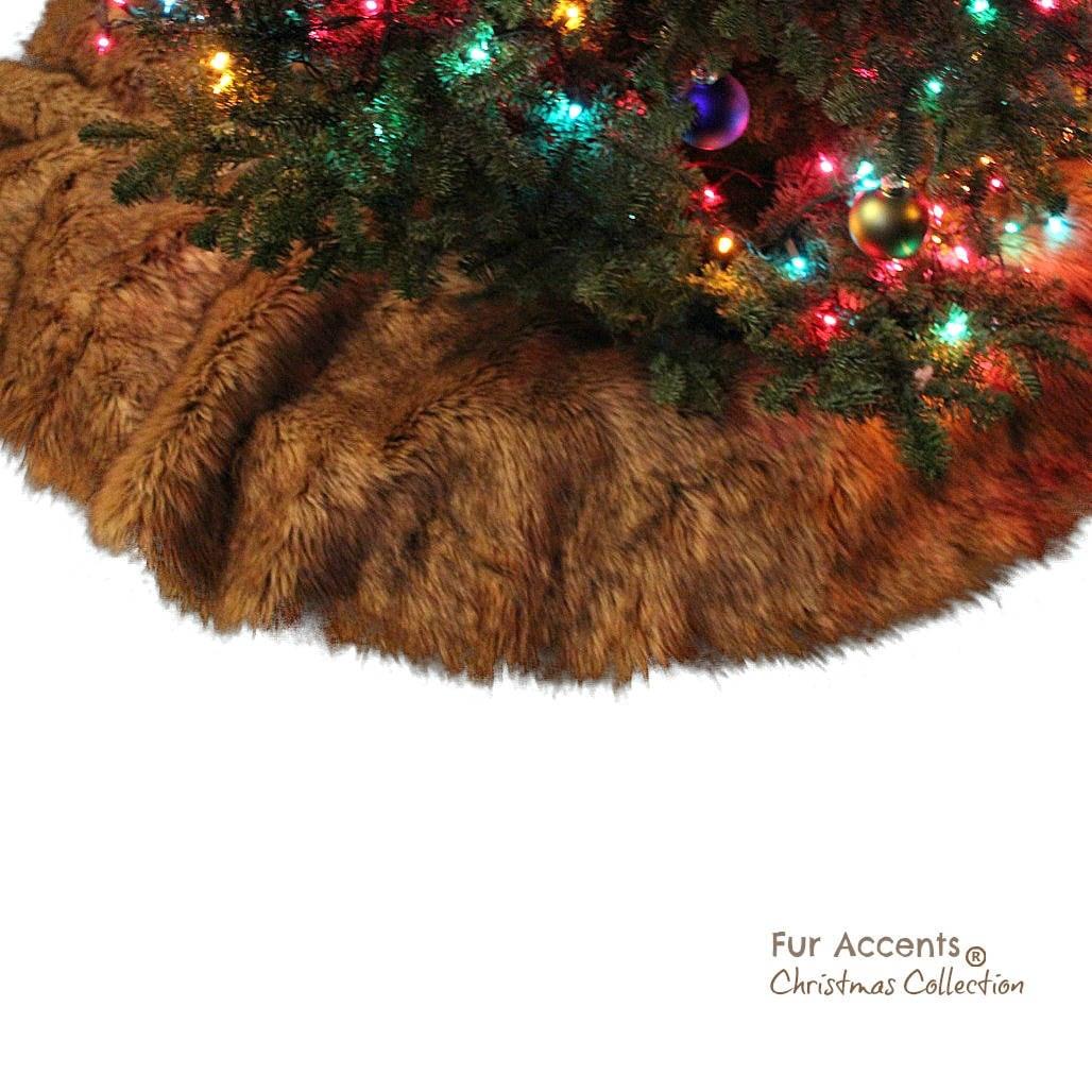 Klassische Kunstfell Weihnachtsbaum Rock Zottel Shag Faux | Etsy