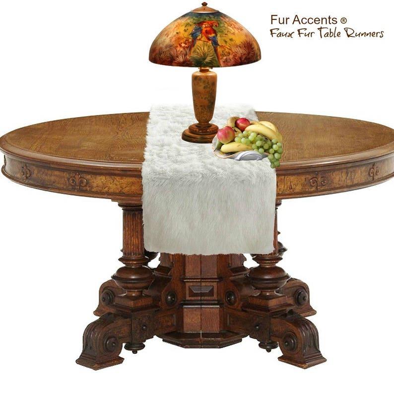 Plush Faux Fur Rectangle Doily Table Runner Luxury Fur Soft Faux Sheepskin Place Mat Table Top Decor Designer Accessories Fur Accents USA