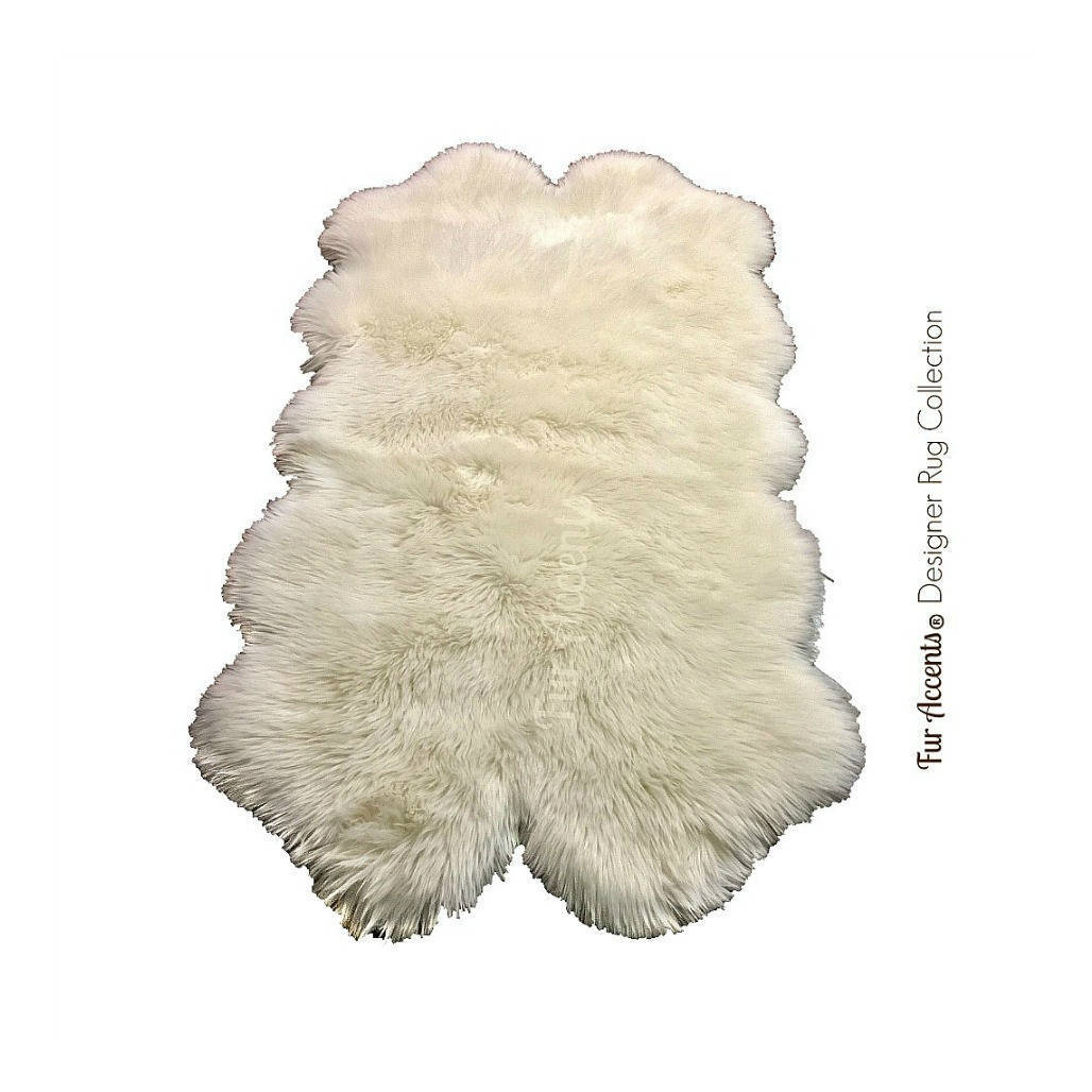 Plush Faux Fur Area Rug Shaggy Sheepskin Quatro Design