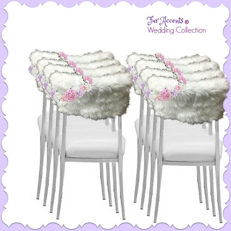 Awesome Fluffy Soft Faux Fur Chair Caps Slip Covers Shaggy Shag Fake Fur Perfect For Weddings Parties Special Events Quinceanera Ball Room 60 Colors Pdpeps Interior Chair Design Pdpepsorg